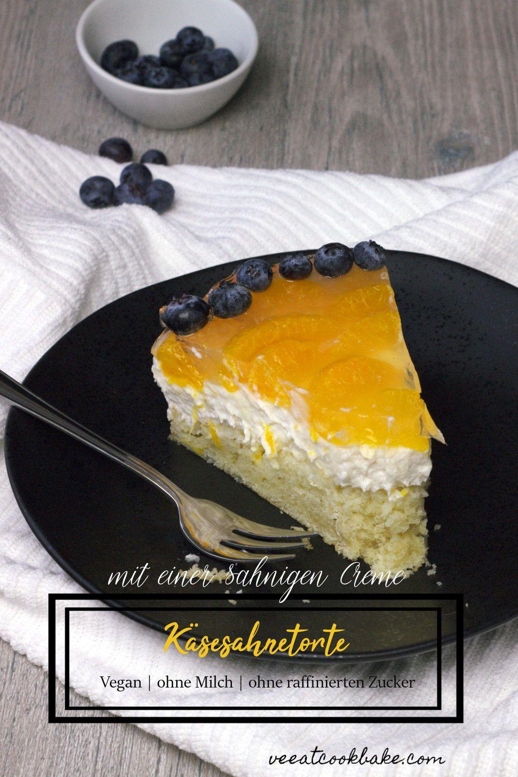 Vegane Mandarinen Quark Sahne Torte Rezept German Blogger Food