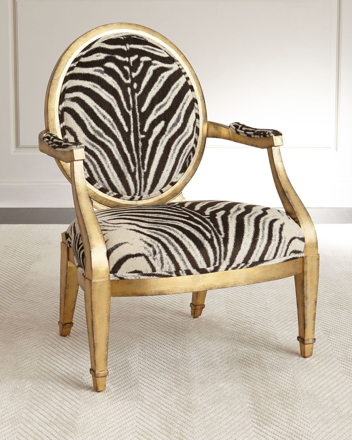 Marlon Zebra-Print Accent Chair  Printed accent chairs, Accent