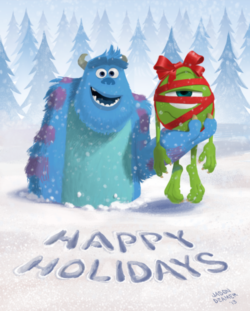 Monsters Inc - Happy Holidays | Disney christmas, Disney, Disney holiday