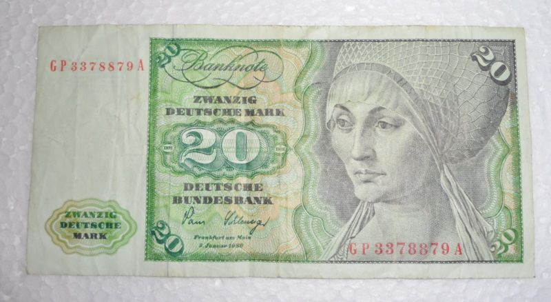Collecters Item German Bank Note 1980 20 Marks