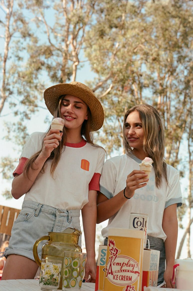 Women's 70's inspired fashion brand CAMP Collection returns this spring with ringer tees and cute, soft basics for warm weather fun.