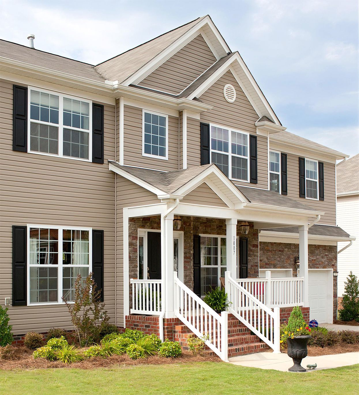 Refresh Your Home With These Gorgeous Exterior Color Schemes In 2020 House Shutters Exterior Paint Colors For House Tan House