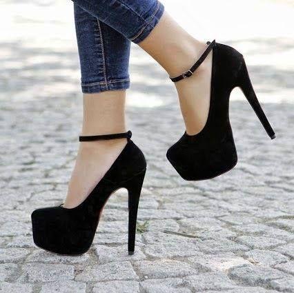 Zapatos negros Tacón de aguja para mujer PvyOaNoeQA