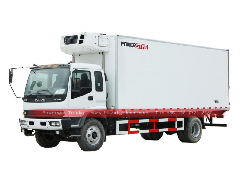 Hot Selling Isuzu Ftr Fvr Fresh Frozen Food Truck In China Powerstar Trucks Frozen Food Food Truck Trucks