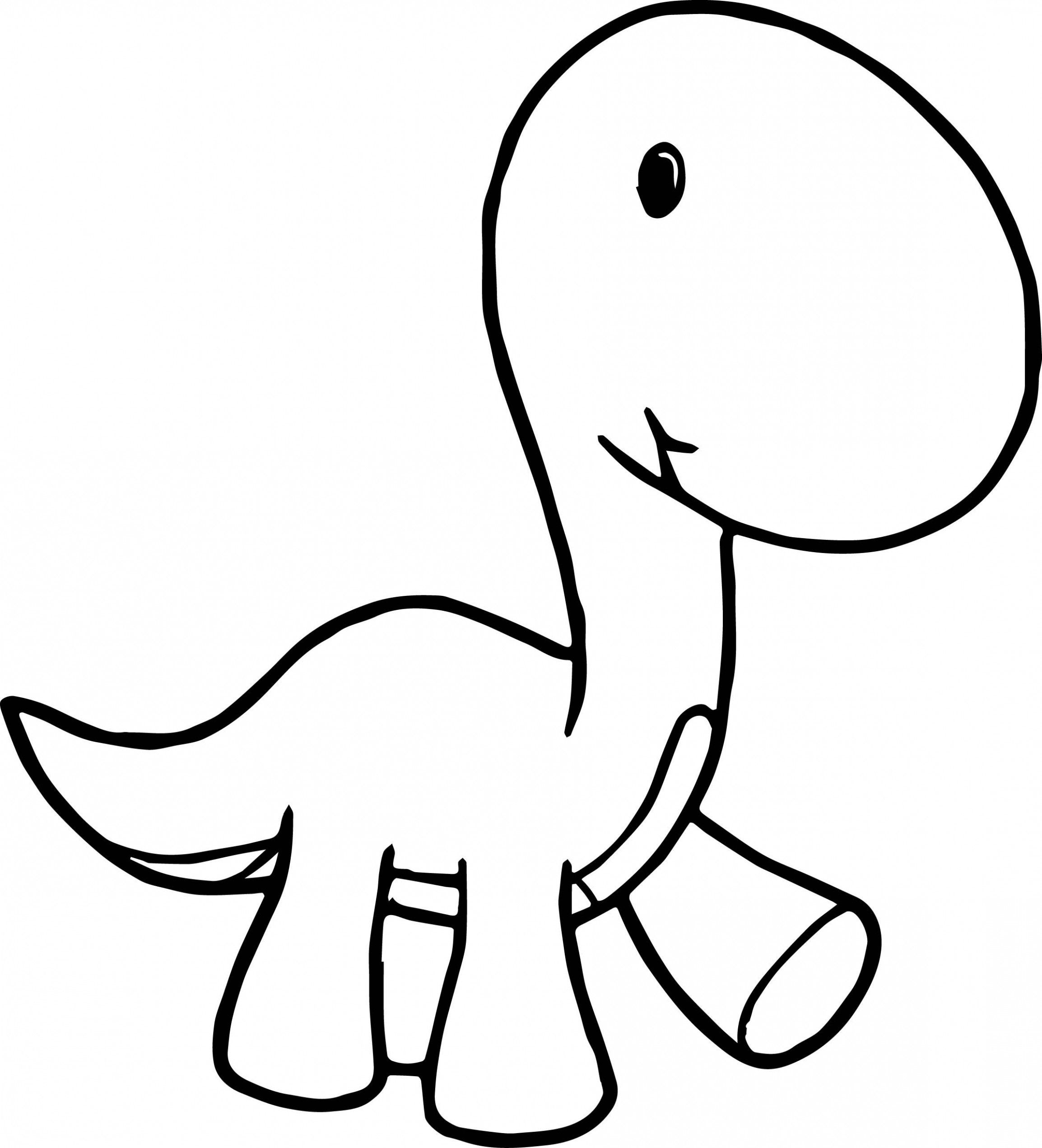 Simple Guidance For You In Long Neck Dinosaur Coloring Page