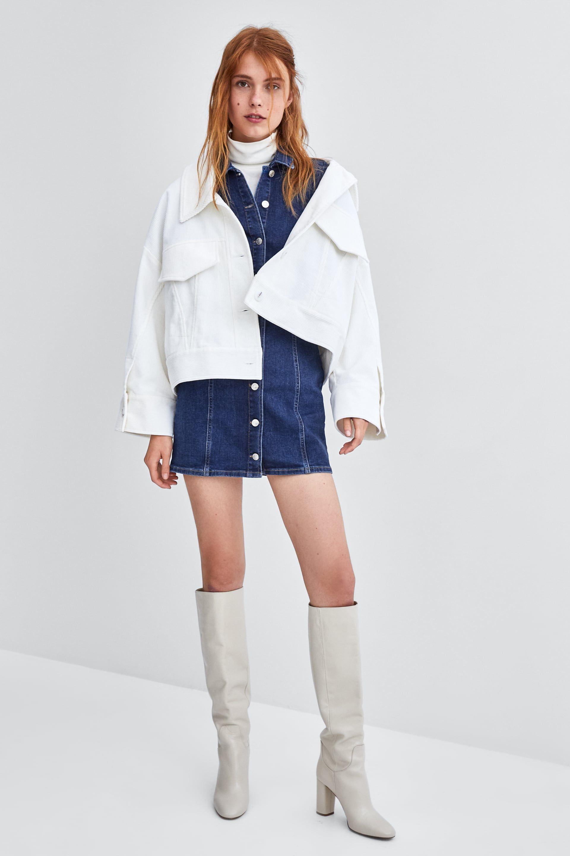 dbaec495 VESTIDO DENIM MINI | clothes | Pinterest | Zara, Denim and Dresses