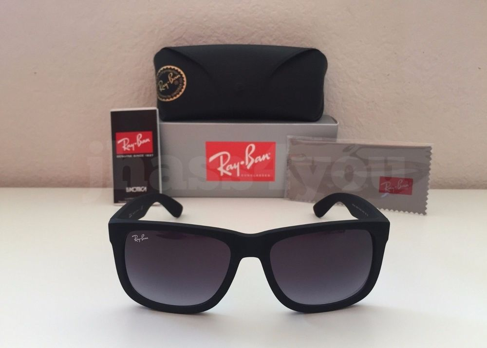 ee3131c74f9 denmark ray ban justin rb4165 601 8g wayfarer sunglasses matte black grey  gradient a4ca0 2c1f0