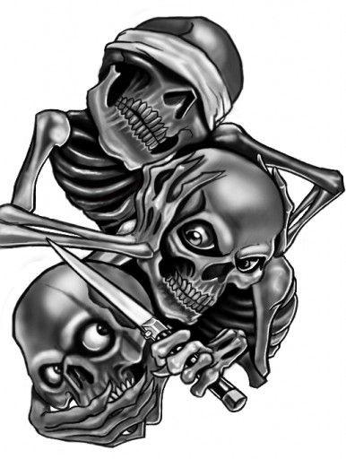 See No Evil Hear No Evil Speak No Evil See No Evil Hear No Evil Speak No Evil Skull Tattoo Design 5 Evil Skull Tattoo Evil Tattoos Skull Design
