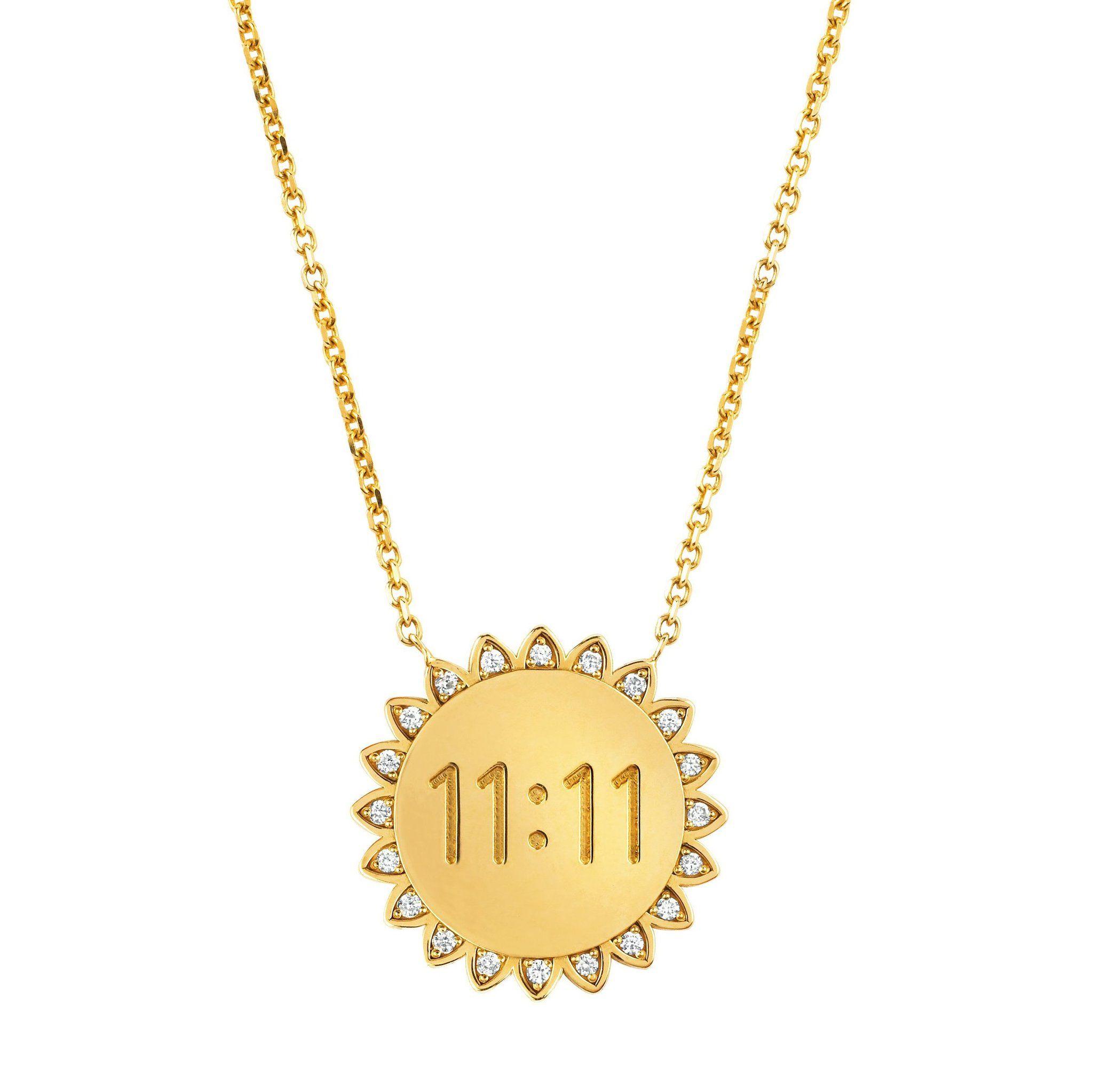 New Medium 11 11 Sunshine Necklace With Diamonds Sunshine Necklace Diamond Necklace