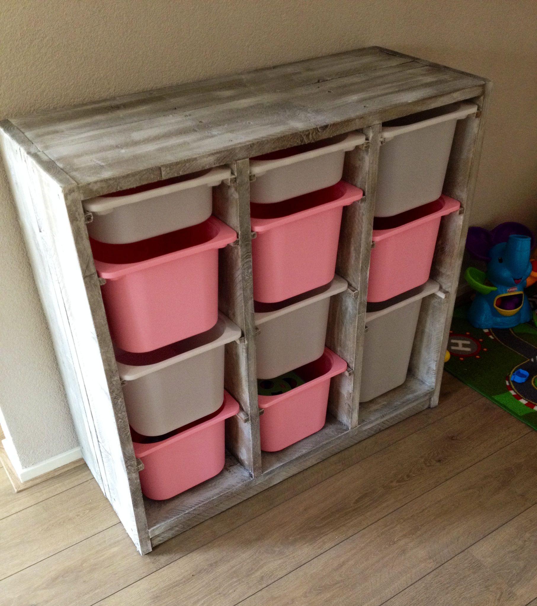 Ikea Opbergkast Kinderkamer.Steigerhouten Speelgoed Kast In 2019 Opberg Kinderkamer