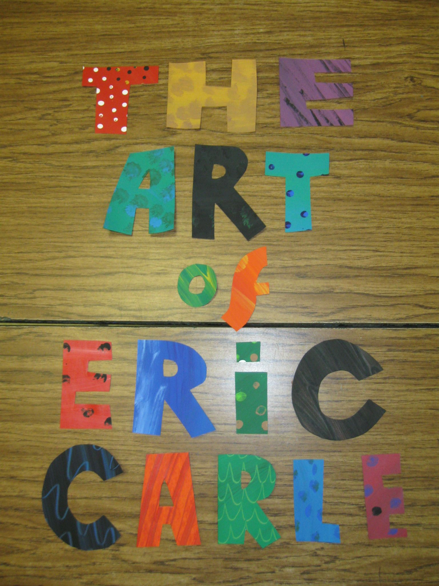 Eric Carle Letters Are Ready For The Door Display Will Feature Student Art Work Inspired By