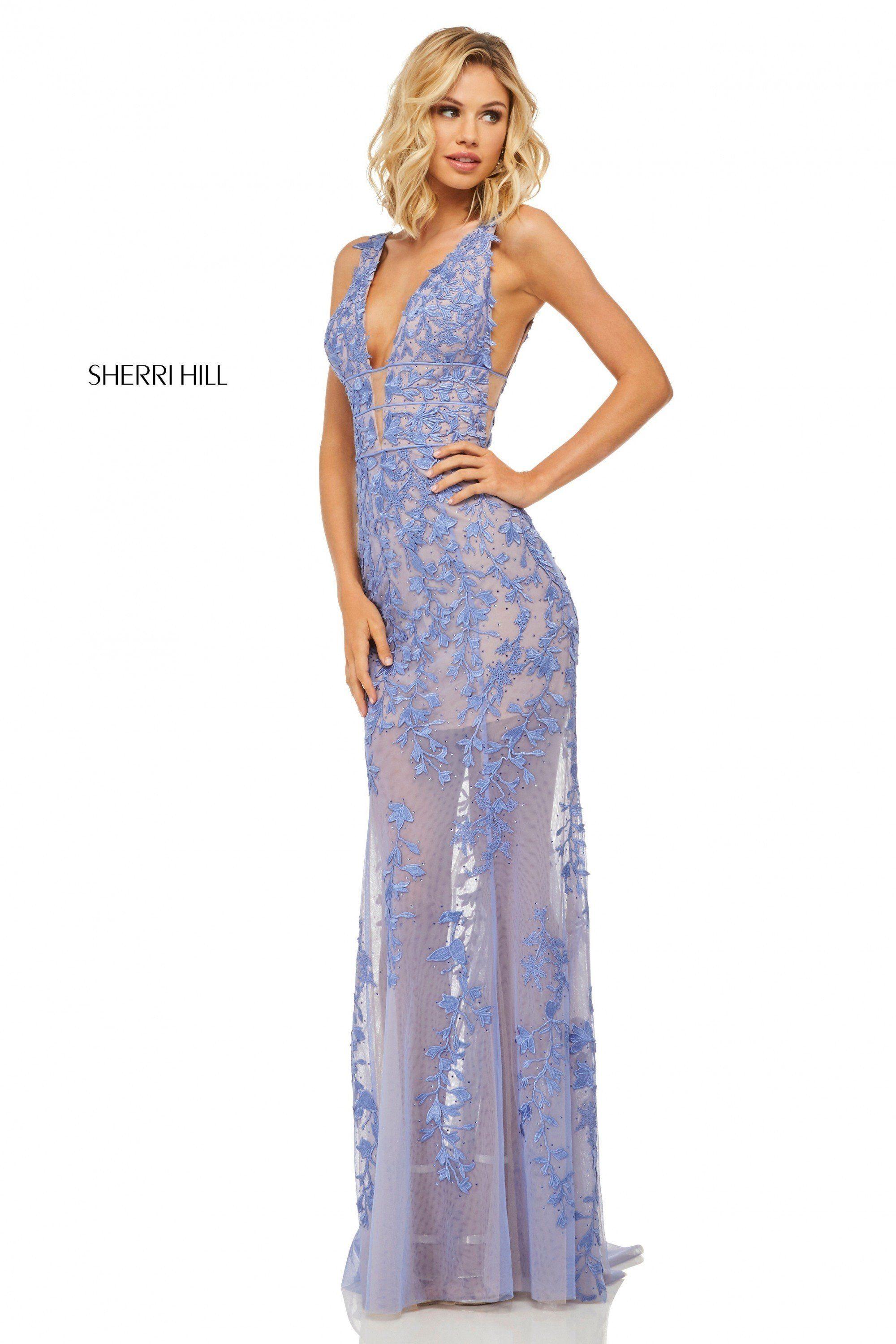 885be1ec512 Sherri Hill 52820 Sheer Lace Gown in 2019
