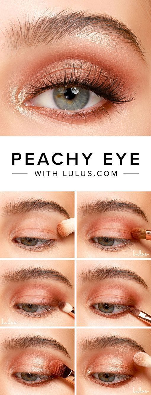 Peachy Eyeshadow Tutorial - Lulus.com Fashion Blog #eyeshadowlooks