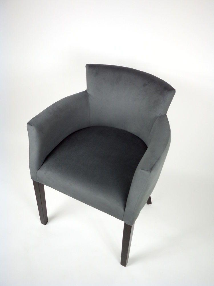 1 2 4 6 x Armlehnstuhl BESTLIN Polster Stuhl Sessel Grau