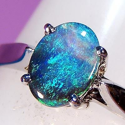 Non Diamond Engagement Rings Australian Black Opal Engagement