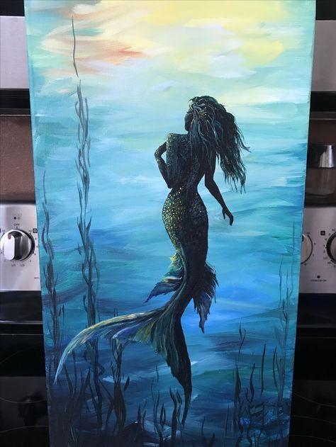 51 Ideas For Art Painting Ideas Acrylic Lights In 2020 Art Painting Art Painting Acrylic Mermaid Painting