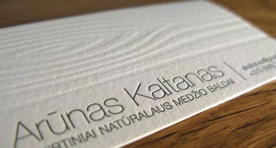 Business Card With Wood Texture