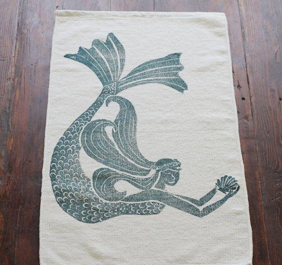 Bath Rug Mat Mermaid Cotton Chenille