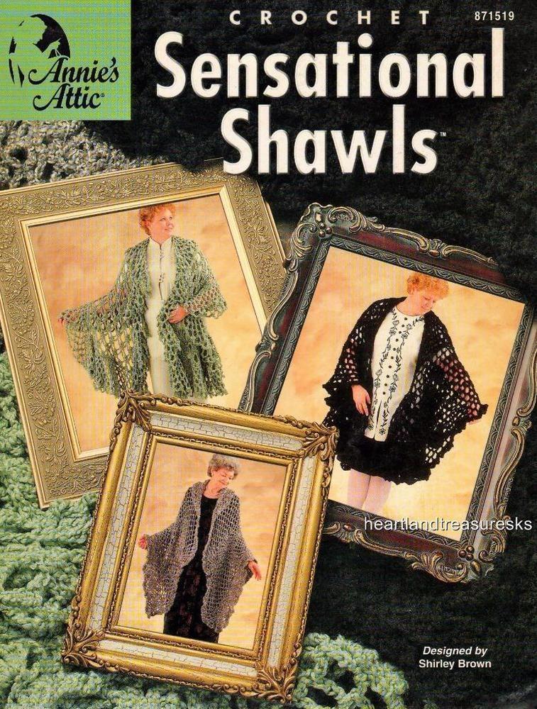 Sensational Shawls Annies Crochet Pattern Booklet Anniesattic