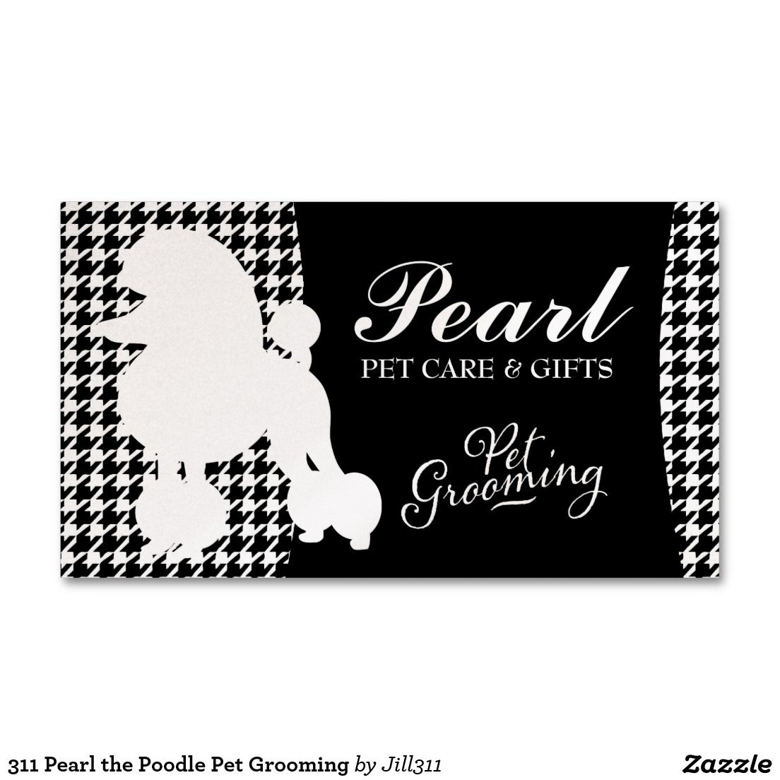 311 Pearl the Poodle Pet Grooming Standard Business Card | Poodle ...