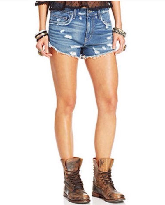 free people cut-off shorts!