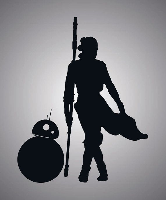 Star Wars Rey And Bb8 Vinyl Decal Etsy In 2020 Star Wars Drawings Star Wars Decal Star Wars Art