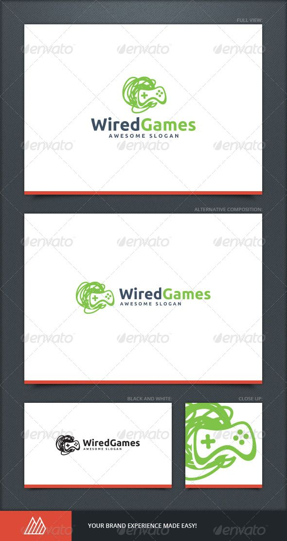 Wired Games Logo Template. Obvious is not the idea, though the ...