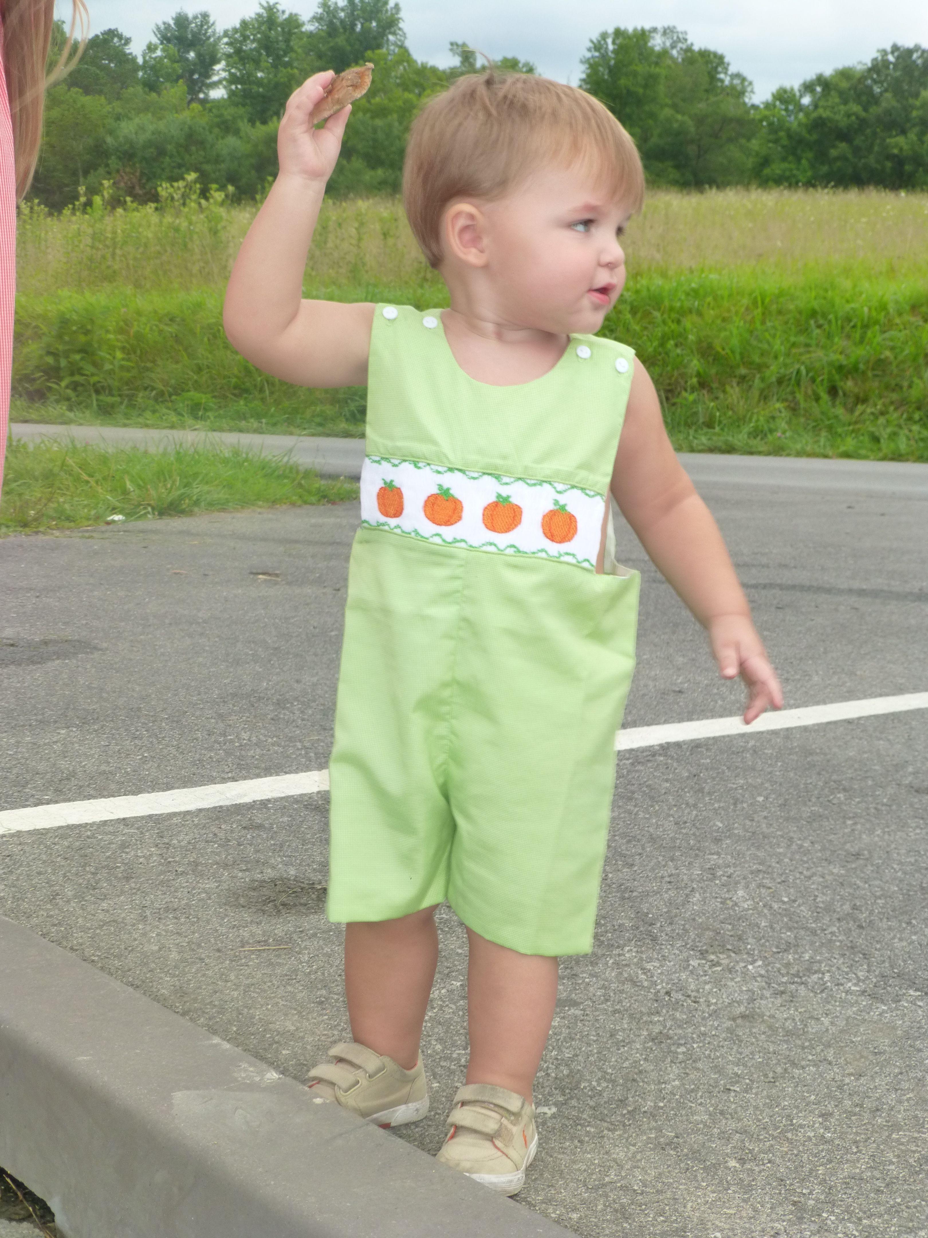 Boys Pumpkin Shortall