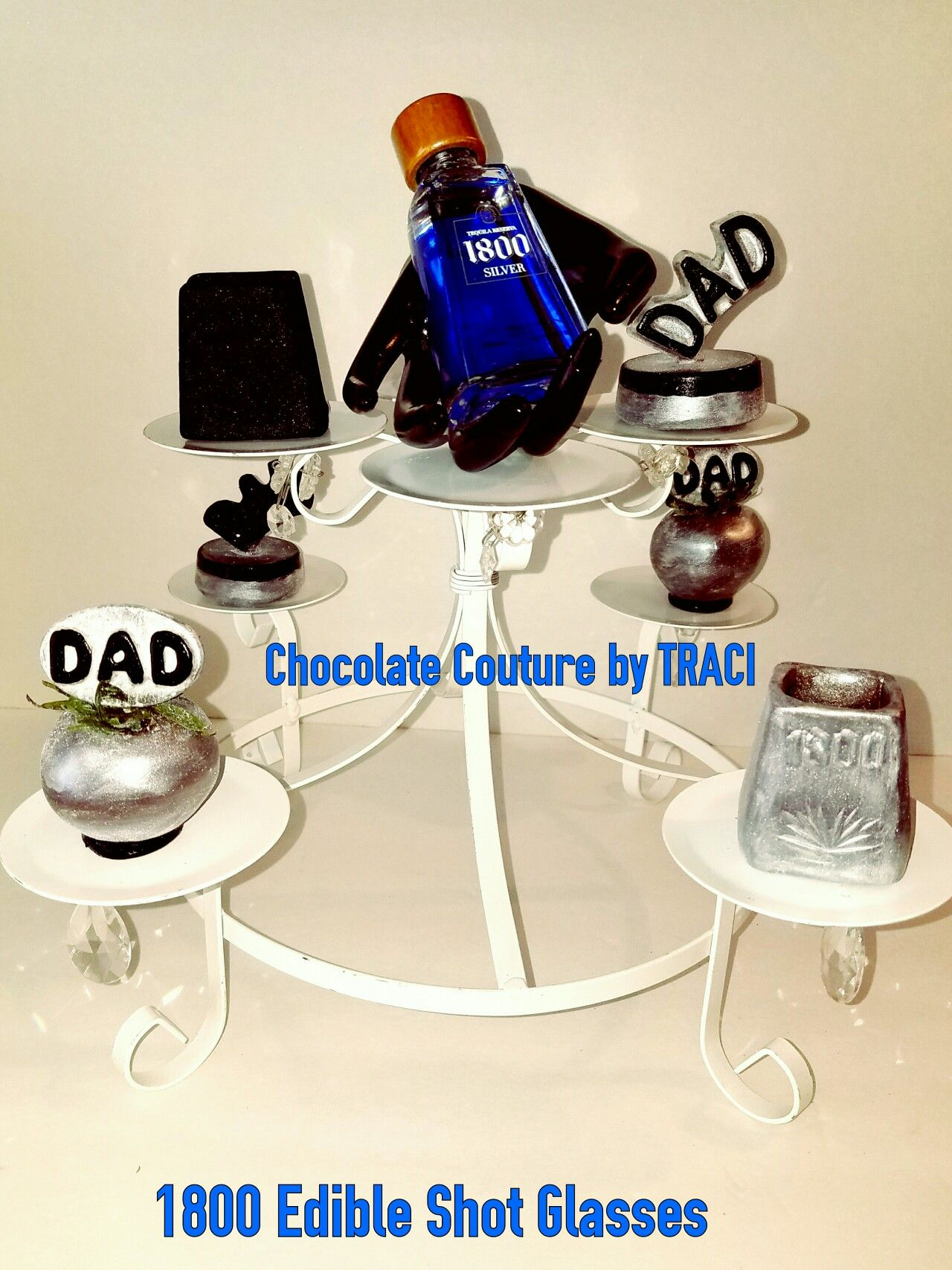 Chocolate Couture by TRACI.. 1800 Chocolate Shot Glasses, Oreos  Strawberries with EDIBLE  (DAD) picks... U.S. PATENT  20120328742 Decorative Toothpick Mold