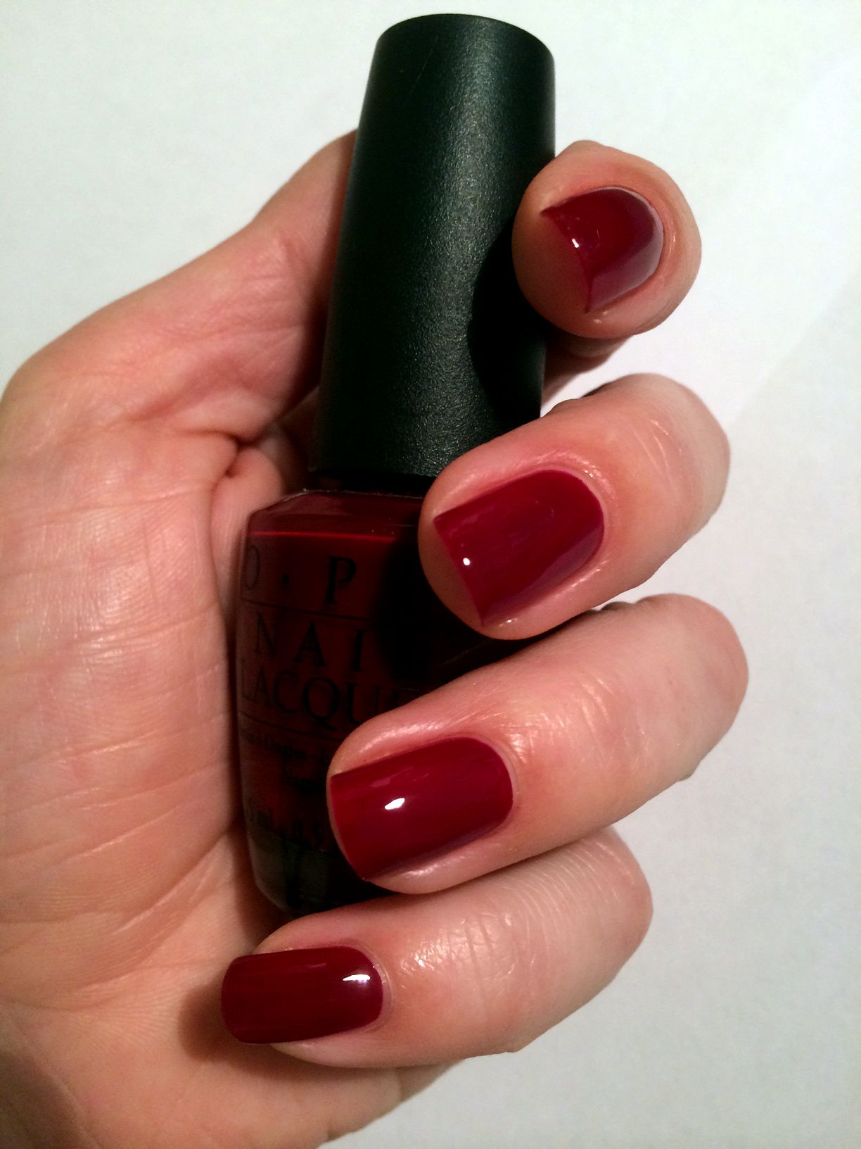 OPI Got The Blues For Red... Classic and timeless dark creme red ...