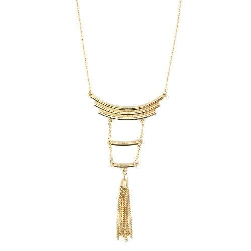 199047643 Colar-Longo-Dourado-Arcos-e-Franjas R$20 | Quero comprar | Pinterest ...