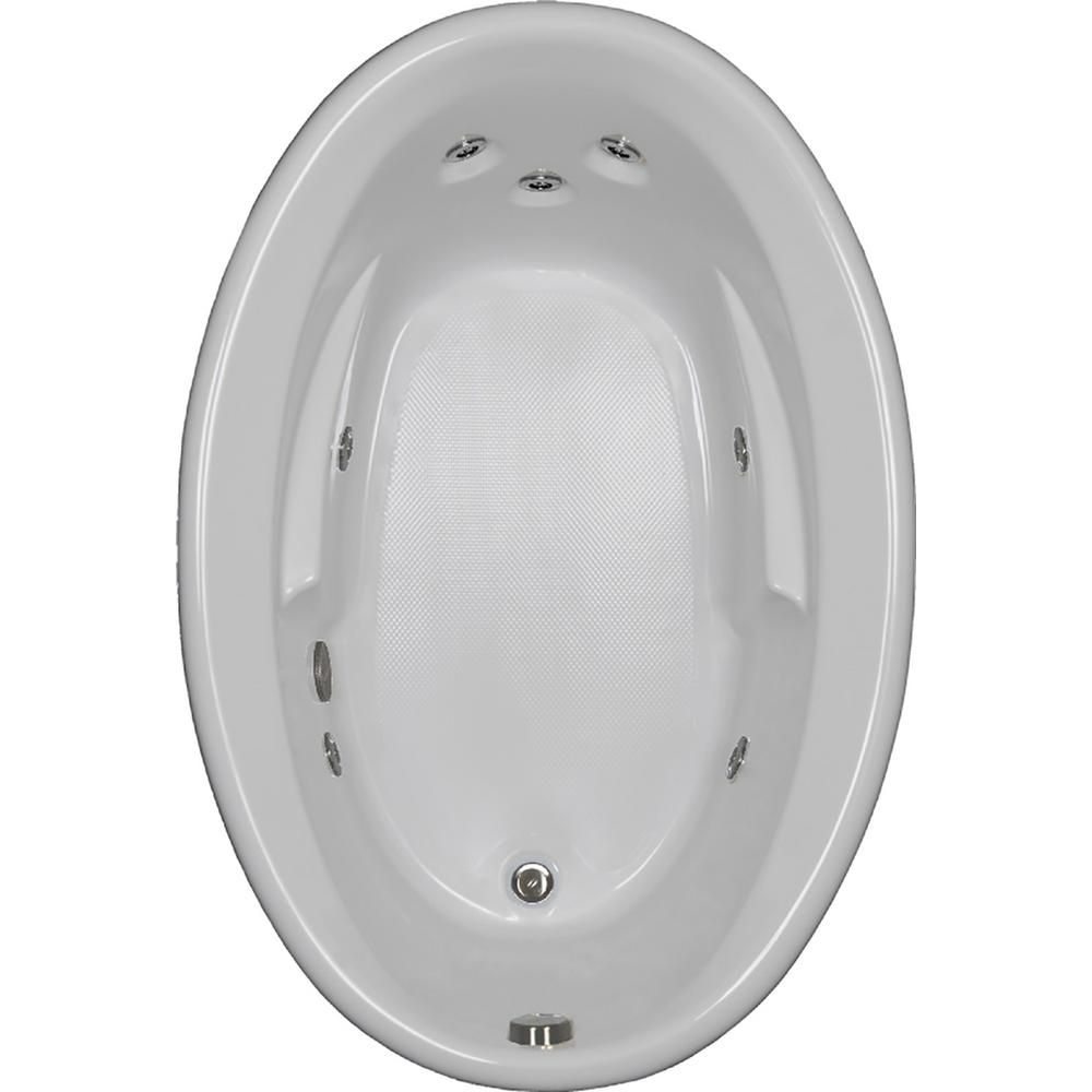 Comfortflo 60 In Oval Drop In Whirlpool Bathtub In White W6042jr White In 2020 Whirlpool Bathtub Bathtub Whirlpool Tub