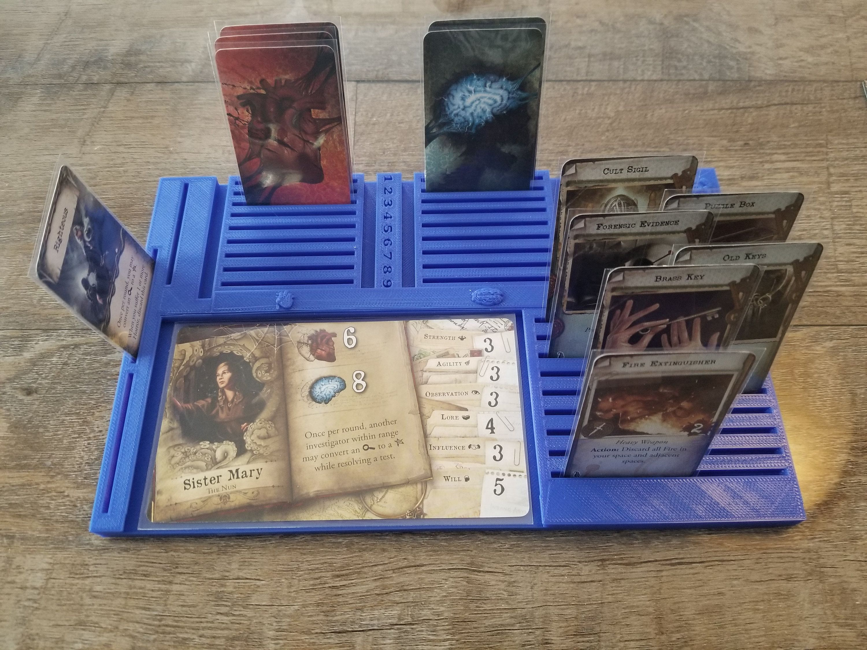 Mansion Of Madness Player Dashboard Can Fit Sleeved Cards Etsy Cards Game Pieces Your Cards