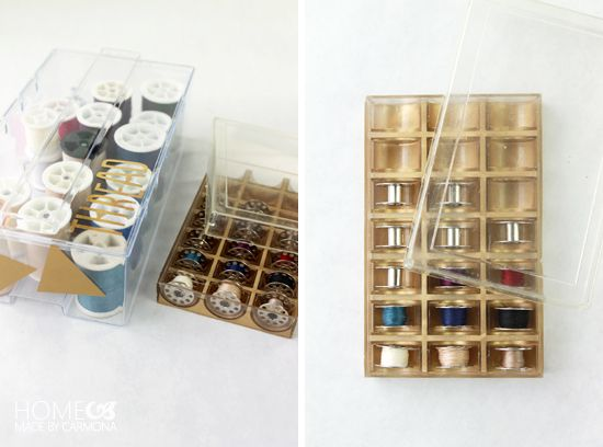 IHeart Organizing: UHeart Organizing: DIY Sewing Kit