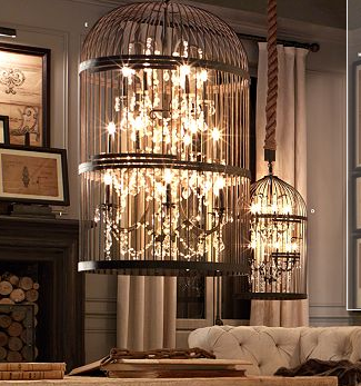 Vintage birdcage lighting restoration hardware for the home home accessories the cute room design with the picture on wall innovation also beautiful sofa then cute lamp also restoration hardware lighting idea the mozeypictures Choice Image