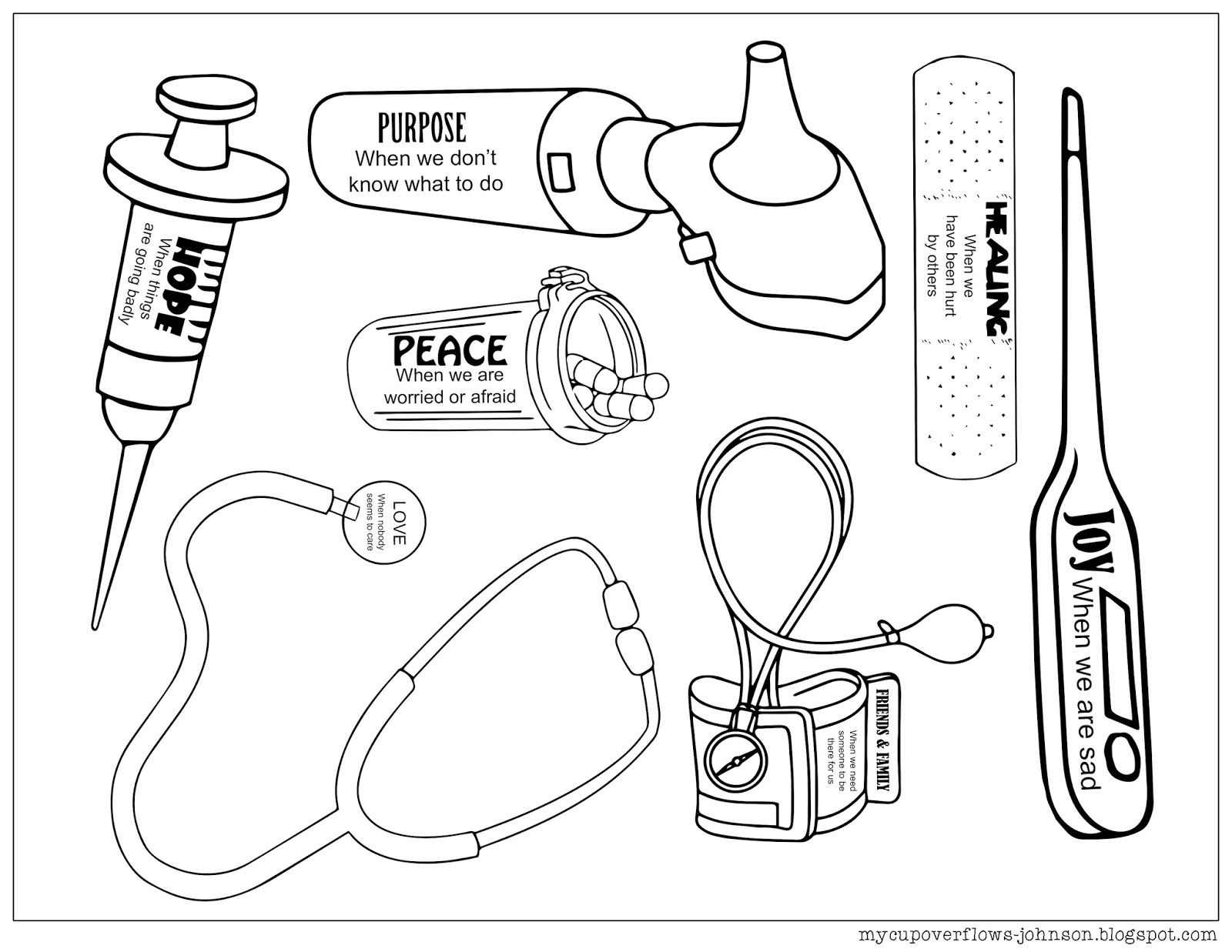 Doctor Bag Coloring Pages Doctor Craft Doctor Bag Craft Bible Crafts