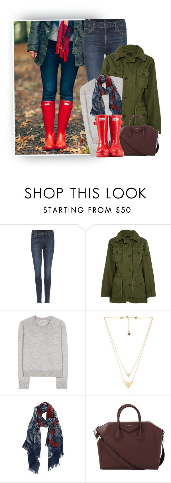 """""""Fun Fall Fridays! Read Description..."""" by hollowpoint-smile ❤ liked on Polyvore featuring Citizens of Humanity, J.Crew, T By Alexander Wang, House of Harlow 1960, Inouitoosh, Givenchy and Hunter"""