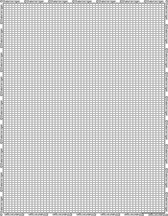 Voici une jolie petite grille vierge pour réaliser vos idées de ...