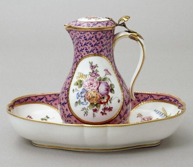Sèvre Porcelain Pitcher and Basin