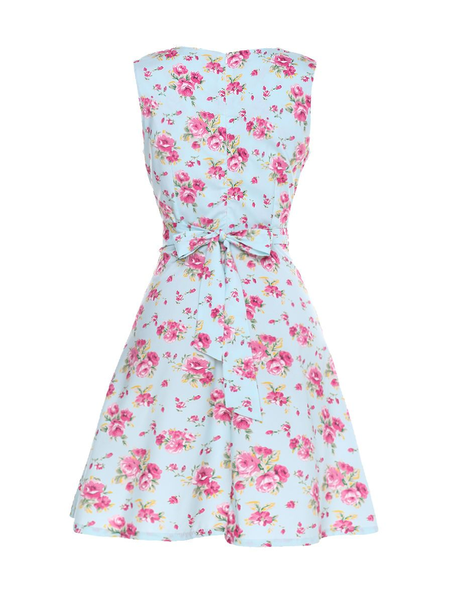 Floral printed patchwork vintage bowknot classical round