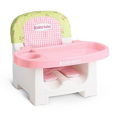 American Girl Accessories Floral Feeding Chair – American Girl Bitty Baby High Chair