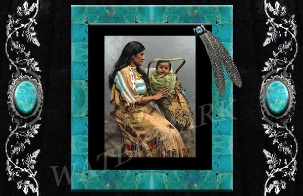 Native american indian blank greeting card printable download native american indian blank greeting card printable download chippewa woman child torquoise silver blank to use for any occasion m4hsunfo