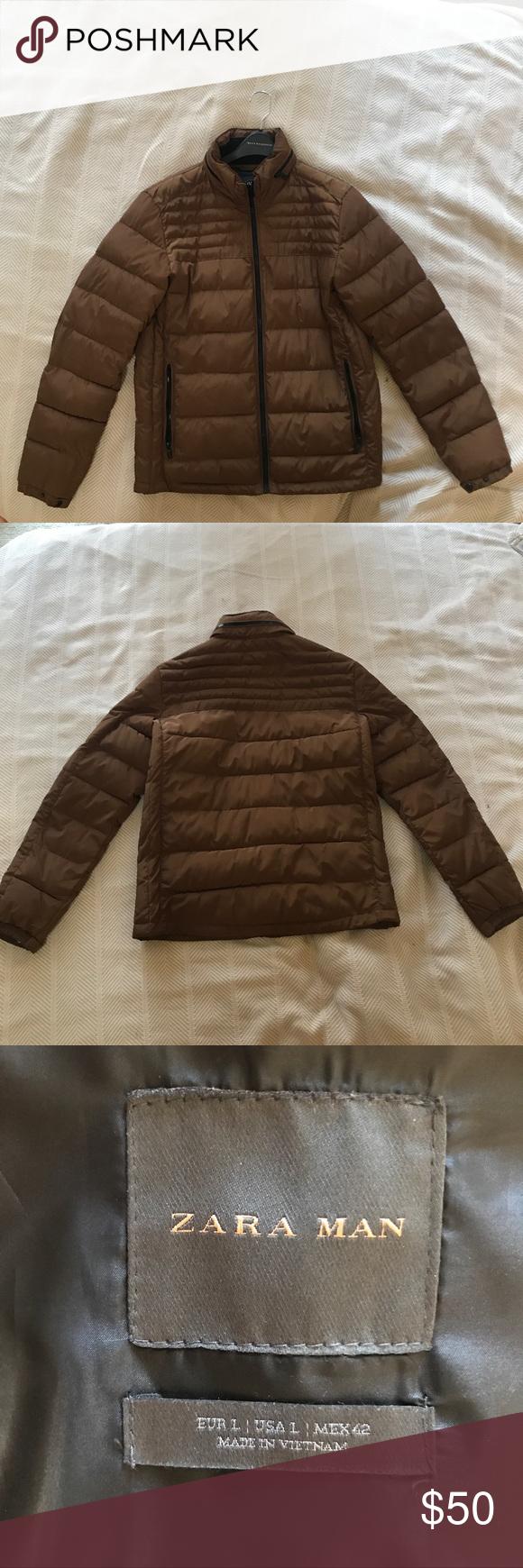 Zara Men S Brown Puffer Jacket Clothes Design Zara Zara Man [ 1740 x 580 Pixel ]