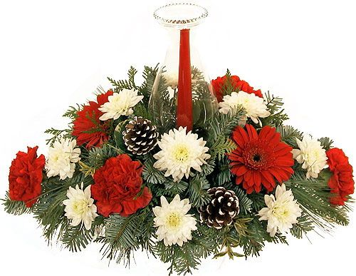 Christmas Flower Arrangements Centerpieces Christmas