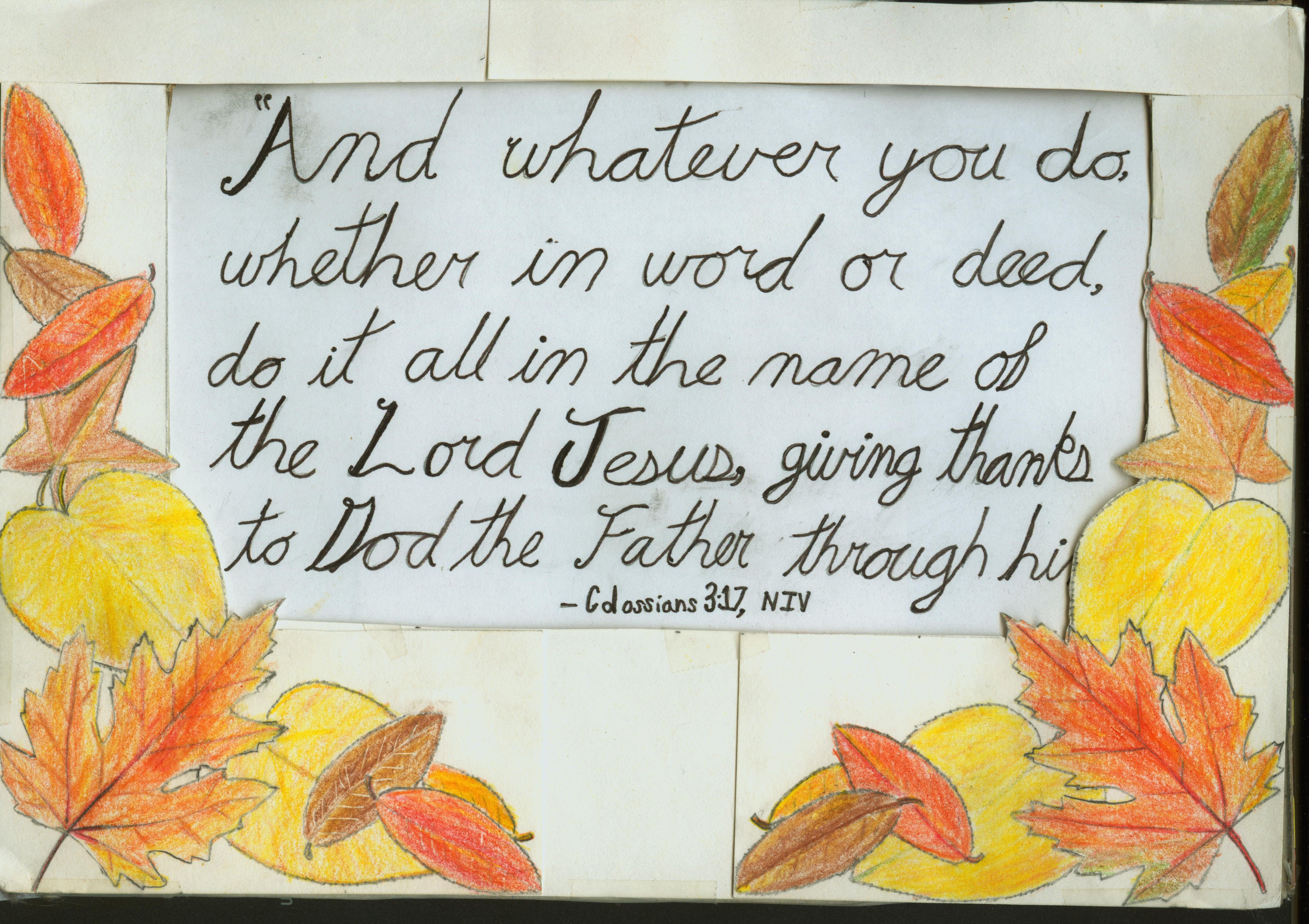 Fall Leaf Bible Verse Holding Frame