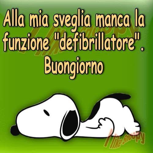Buongiorno in italiano per favore good morning snoopy for Vignette buongiorno divertenti