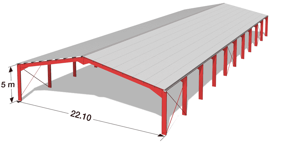 Hangar Bipente Nev 22 10 Steel Structure Buildings Steel Frame Construction Roof Truss Design