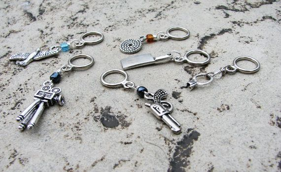 Dial M for Murder  NonSnag Stitch Markers by winemakerssister, $11.95
