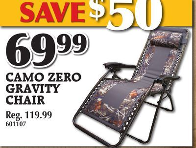 Shared from Flipp: CAMO ZERO GRAVITY CHAIR in the TSC Stores