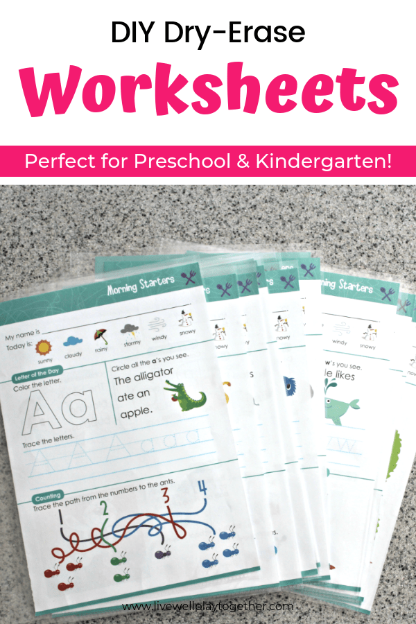 Make Your Own Dry-erase Worksheets. Perfect For Preschool And Kindergarten  Morning Wor… Book Activities, Kindergarten Morning Work, Preschool  Learning Activities